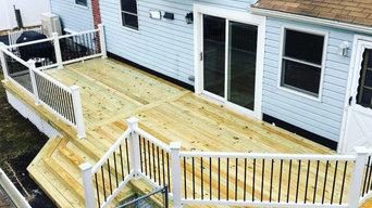 Upper Level Wood Deck