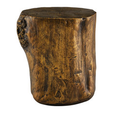 Powell Hunter Resin End Table Stool in Gold