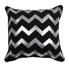 Jay Z Zigzag Cushion Cover, Black and Silver