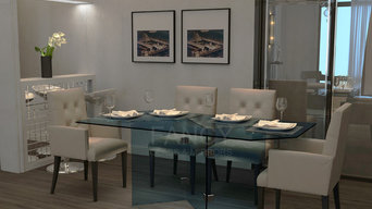 ALCOR DINING GLASS  TABLE