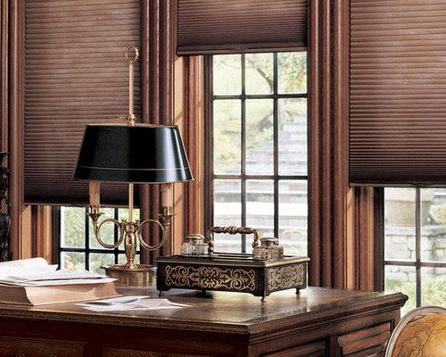 Home office den window treatment ideas for Home den