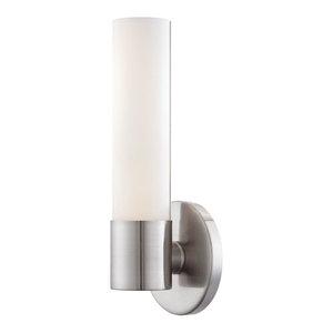 """Kovacs Saber Single Light 4-3/4"""" Bathroom Sconce, Brushed Nickel"""