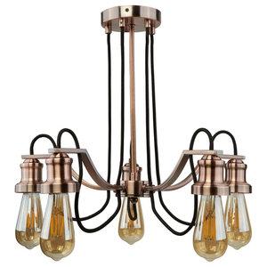 Olivia 5-Light Ceiling Light, Antique Copper