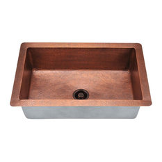 Single Bowl Copper Sink, Sink Only