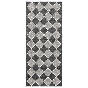 Dialog Woven Vinyl Floor Cloth, Black, 70x200 cm