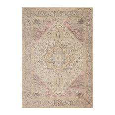 Nourison Tranquil Traditional Area Rug, Ivory/Pink, 6'x9'