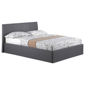 Fusion Grey Bed Frame With Storage, Double