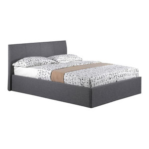 Fusion Grey Bed Frame With Storage, Small Double