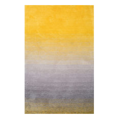 Hand-Tufted Ombre Shag Rug, Yellow, 9'x12'