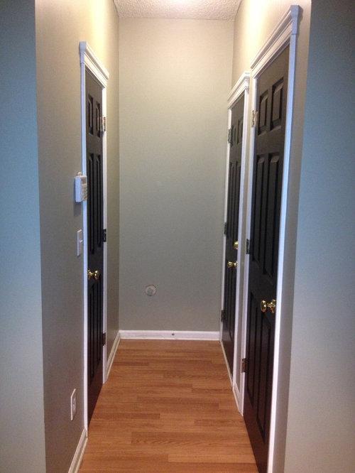 Black Interior door before and after