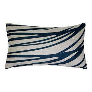Wild Bamboo On Moss Hand Printed Pillow Asian Decorative Pillows By Sustainable Threads