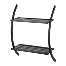 HomeZone 2 Tier Wall Rack, Oil-Rubbed Bronze Finish