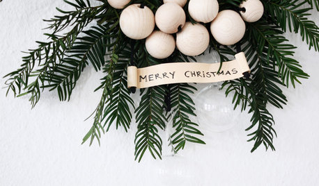 DIY Projects: A Beautifully Simple Christmas Wreath