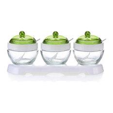Set of 3 Multi Purpose Spice Jars Storage Containers