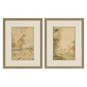 Paragon Scenic Traditional Natural Vista I Pack of 2 Wall Art