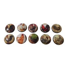 Rooster Cabinet Knobs, 10-Piece Set