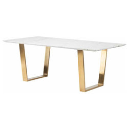 Nice Modern Desks And Hutches Marble Top Desk White Brushed Gold Stainless Steel Legs