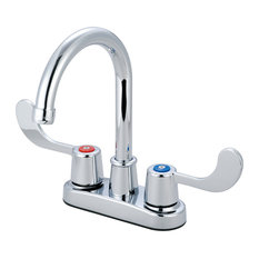 Two Handle Bar Faucet, Polished Chrome