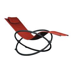Orbital Lounger, Single, Cherry Red