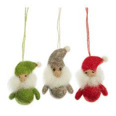 Felt So Good Trio of Santa Gnomes Christmas Decoration