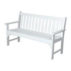 """Polywood Vineyard 60"""" Bench, White"""