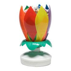 Amazing Candle Rainbow Flower, 6 Pack