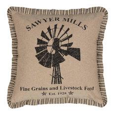 """Sawyer Mill Windmill Pillow, 18""""x18"""""""