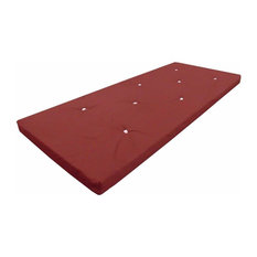 Contemporary Single Futon Mattress with Velcro Straps
