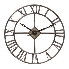 Rustic Steel Outdoor Wall Clock
