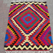 Vintage Handwoven Turkish Kilim Rug by Mister Pillow