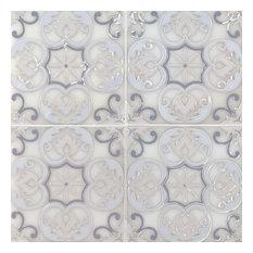 Tetris Florita Blanco 6X6 Modern Marble 6X6 Marble
