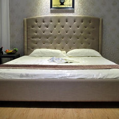 Greatime B1133 Fabric Bed, Gray