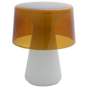Cameron Peters Nelly Murano Glass Table Lamp, Amber