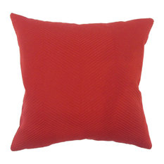 """Carabella Solid Down Filled Throw Pillow, Red, 12""""x18"""""""