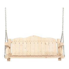 Montana Woodworks Homestead Transitional Wood Porch Swing in Natural