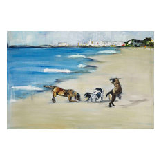 """""""Dogs Play"""" Painting Print on Canvas by Tori Campisi"""