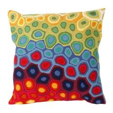 "Pop Swirl Red Pillow - 20"" SQ"
