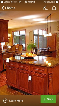 with cabinets close to yours another thing about this stone is it is basically a neutral meaning you can put any color with it and it will work
