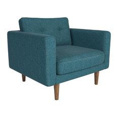 Corvus Upholstered Armchair, Teal