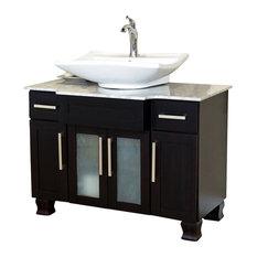 Bellaterra Home 40 Inch Single Sink Vanity Dark Mahogany Bathroom Vanities And