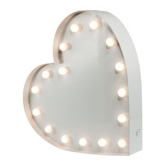 Heart Table Lamp, White, Large