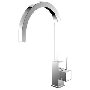 Spirit Kitchen Mixer Tap, Curved, High Gloss Stainless Steel