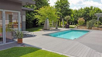 Eine Gartenanlage, verschiedene Gartenstile.