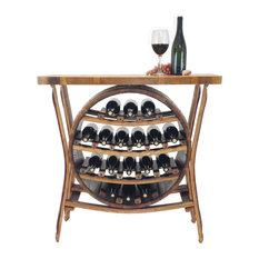 Wine Barrel 17 Bottle Wine Rack