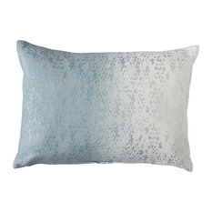 Mineral Blue and Silver Textured Accent Cushion