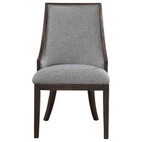 Uttermost Janis Ebony Accent Chair