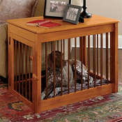 Wood Dog Crate / Wood/Metal Deluxe Dog Crate