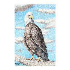 "Mike Bennett Bald Eagle Art Print, 30""x45"""