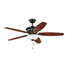 Tiny house interior ceiling fans houzz vaxcel vasari ceiling fan new bronze with frosted white glass 52 aloadofball Images