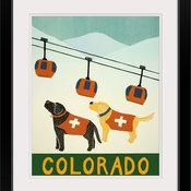"""""""Colorado Ski Patrol"""" Black Framed Art Print, 24""""x28""""x1"""""""